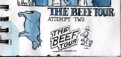 Example of Hand Drawn Typography in The Bull Tour
