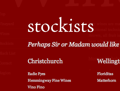 Stockists