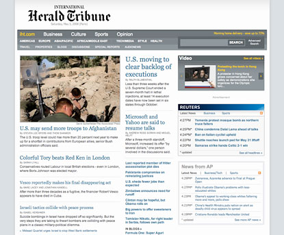 int&#8217;l herald tribune