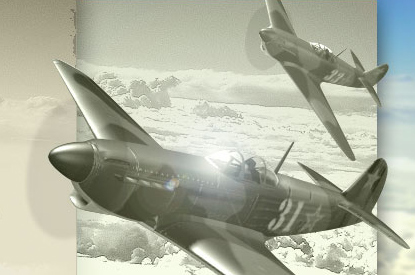 Detail photo of planes on the home page